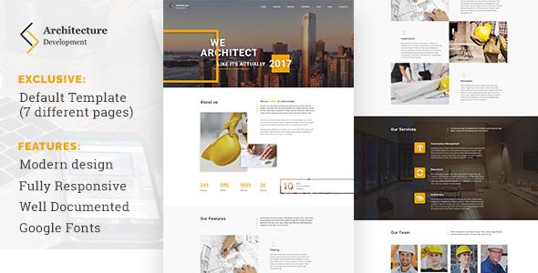 قالب Architecture Development - قالب وردپرس ساخت و ساز