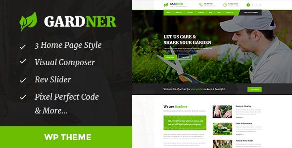 قالب Gardener - قالب وردپرس باغبانی و محوطه سازی
