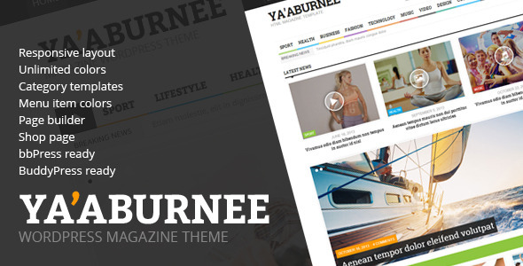 قالب Ya'aburnee - قالب وردپرس خبری و فروشگاهی