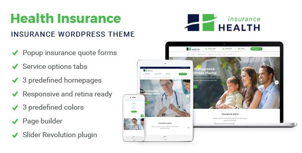 قالب Health Insurance - قالب سایت شرکت بیمه