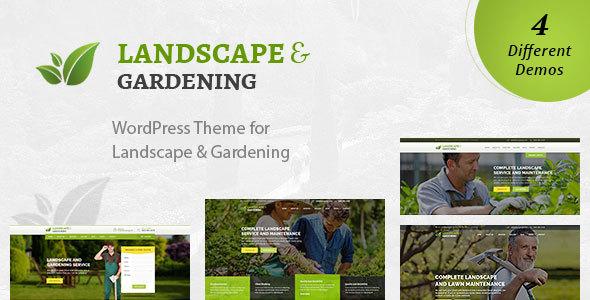 قالب Landscape - قالب وردپرس باغبانی و محوطه سازی