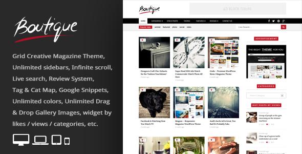 قالب Boutique Grid - قالب وردپرس مجله