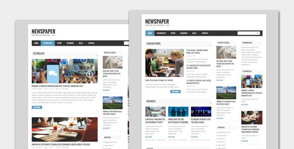 قالب Newspaper - قالب وردپرس وبلاگ و مجله