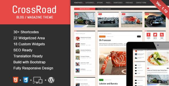 قالب CrossRoad - قالب وبلاگ و مجله وردپرس