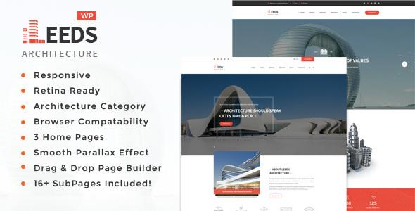 قالب Leeds - قالب وردپرس معماری و طراحی داخلی