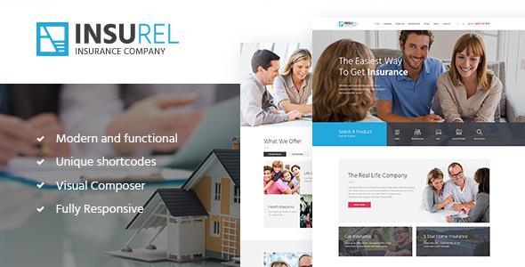 قالب InsuRel - قالب وردپرس بیمه و امور مالی