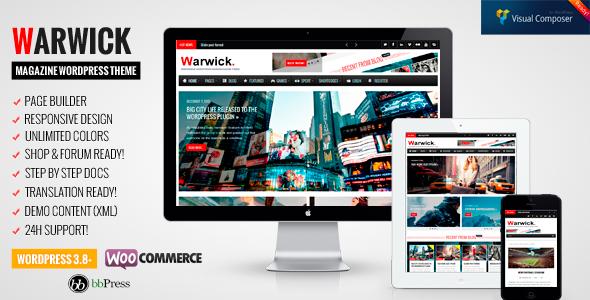 قالب Warwick - قالب وردپرس خبری و مجله