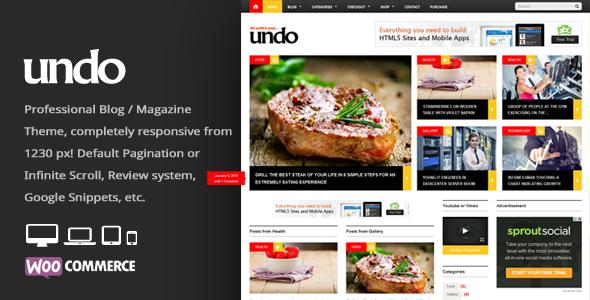قالب Undo - قالب وردپرس خبری و مجله