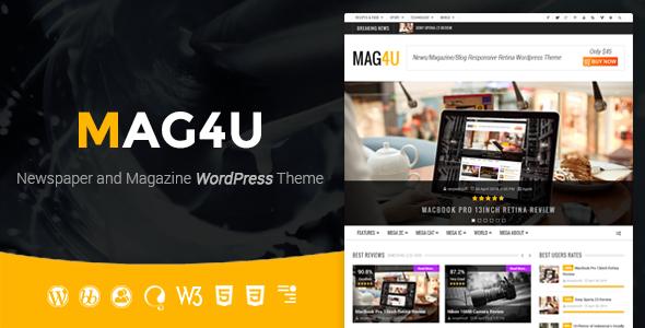 Mag4u - قالب وردپرس خبری، مجله ای و وبلاگی