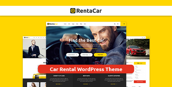 قالب Rentacar - قالب وردپرس سایت اجازه خودرو
