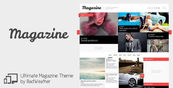 قالب Magazine - قالب وردپرس اخبار، بلاگ و بررسی