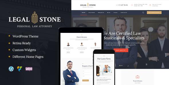 قالب Legal Stone - قالب وردپرس وکلا