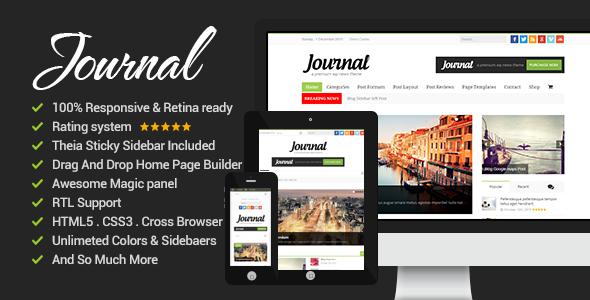 News Journal - قالب وردپرس خبری و مجله