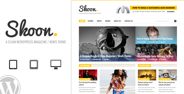 Skoon - قالب مجله و خبر وردپرس