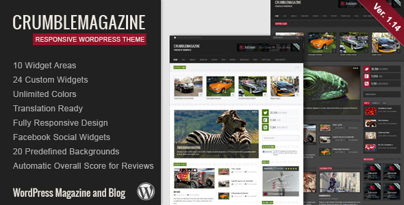 قالب Crumble - قالب وبلاگ و مجله وردپرس