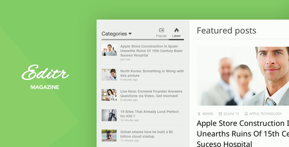 قالب Editr - قالب وردپرس وبلاگ و مجله