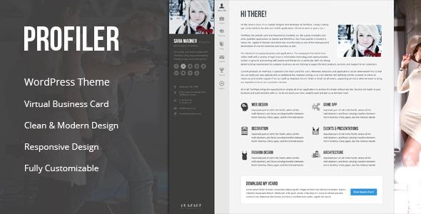 پروفایلر | Profiler - قالب وردپرس وبلاگ شخصی