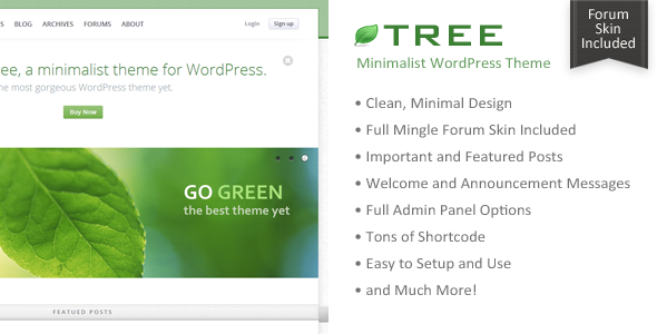 قالب Tree - قالب مینیمال وبلاگ برای وردپرس