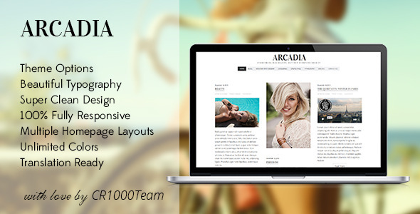 قالب Arcadia - قالب وبلاگ وردپرس ریسپانسیو