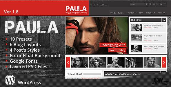 قالب Paula - قالب وردپرس وبلاگ و مجله