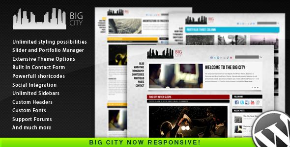قالب Big City - قالب وردپرس شخصی