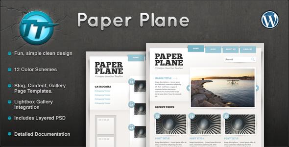 قالب Paper Plane - قالب وردپرس