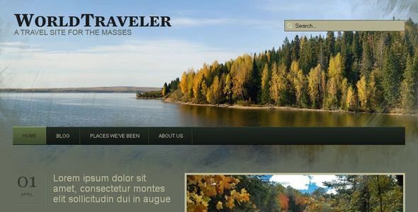 قالب WP World Traveler - قالب وردپرس گردشگری
