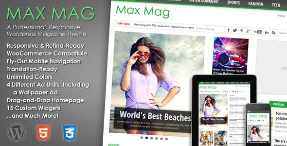 قالب Max Mag - قالب ریسپانسیو مجله برای وردپرس
