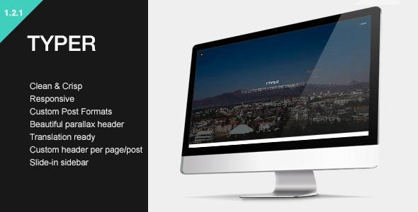 قالب Typer - قالب وبلاگی وردپرس