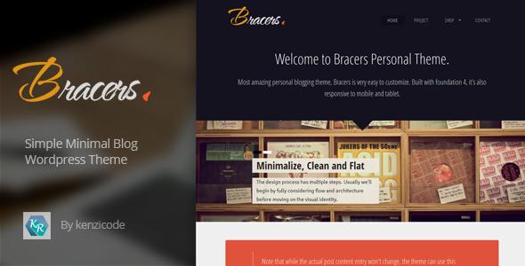 قالب Bracers Personal - قالب مینیمال وبلاگ برای وردپرس