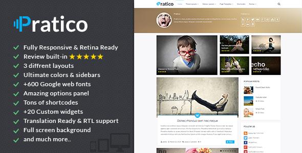 Pratico - قالب وردپرس وبلاگ