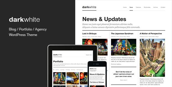 Darkwhite - قالب وردپرس نمونه کار و وبلاگ