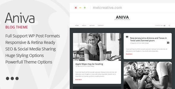 Aniva - قالب بلاگی وردپرس زیبا