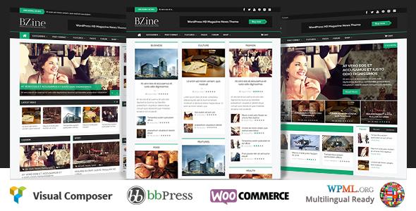 قالب Bzine - قالب وردپرس مجله خبری