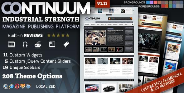 قالب Continuum - قالب وردپرس مجله