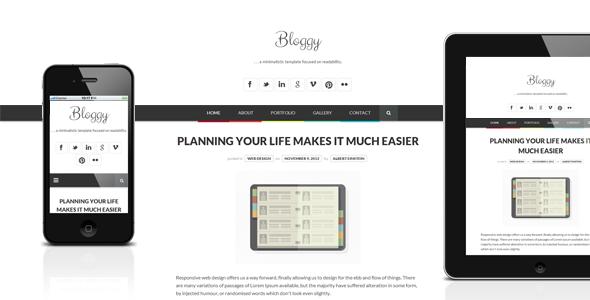 قالب Bloggy WP - قالب وردپرس مینیمال