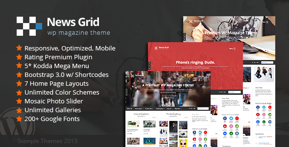News Grid - قالب وردپرس مجله