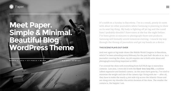 قالب Paper - قالب وبلاگ وردپرس ریسپانسیو