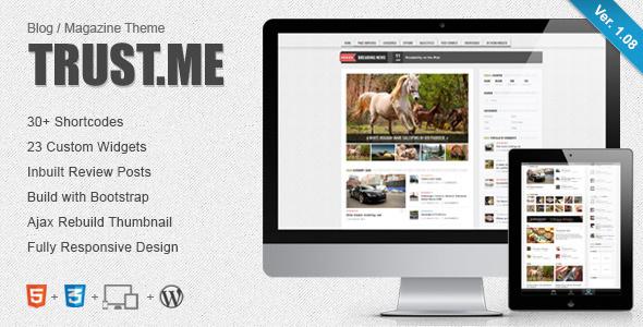 قالب TrustMe - قالب وبلاگ و مجله وردپرس