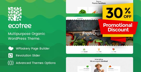 قالب Ecotree - قالب وردپرس غذای ارگانیک