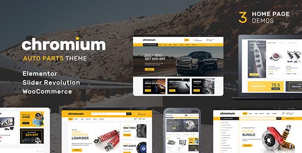 قالب Chromium - قالب وردپرس قطعات خودرو