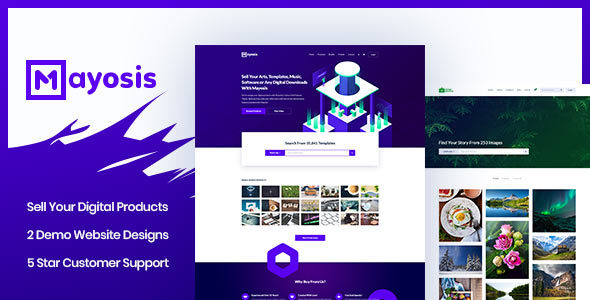 Mayosis - قالب وردپرس دیجیتال مارکتینگ