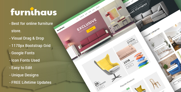 Furnihaus - قالب وردپرس فروشگاه مبلمان