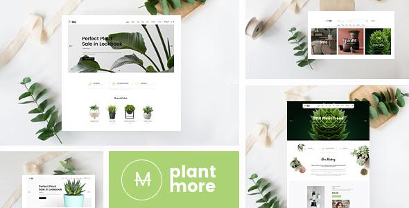 Plantmore - قالب وردپرس فروشگاه ووکامرس