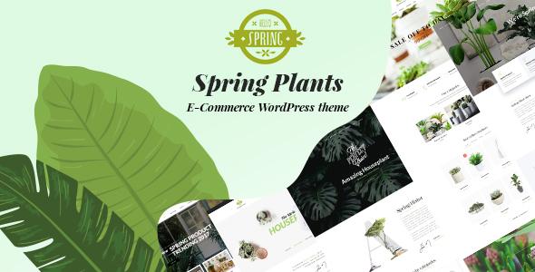 قالب Spring Plants - قالب وردپرس باغبانی و گیاهان دارویی