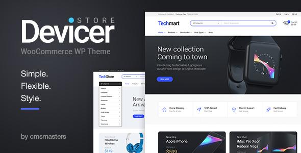 قالب Devicer - قالب وردپرس فروشگاه الکترونیک، موبایل و تکنولوژی