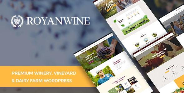 قالب Vineyard, Winery, Wine Shop and Dairy Farm - قالب وردپرس