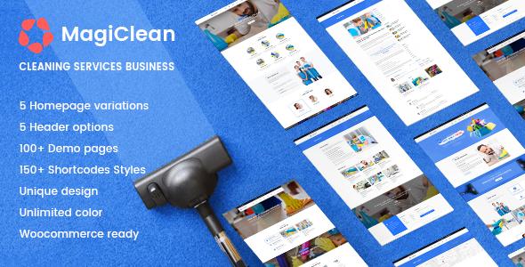 MagiClean - قالب وردپرس شرکت تمیزکاری