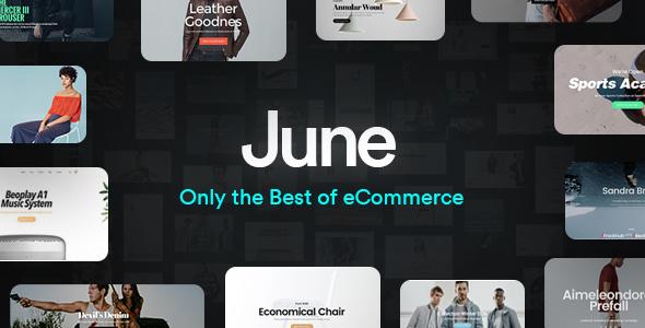 قالب June - قالب فروشگاهی چند منظوره وردپرس