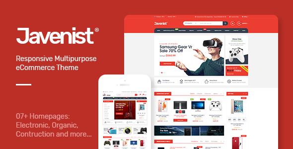 قالب Javenist - قالب فروشگاهی چند منظوره
